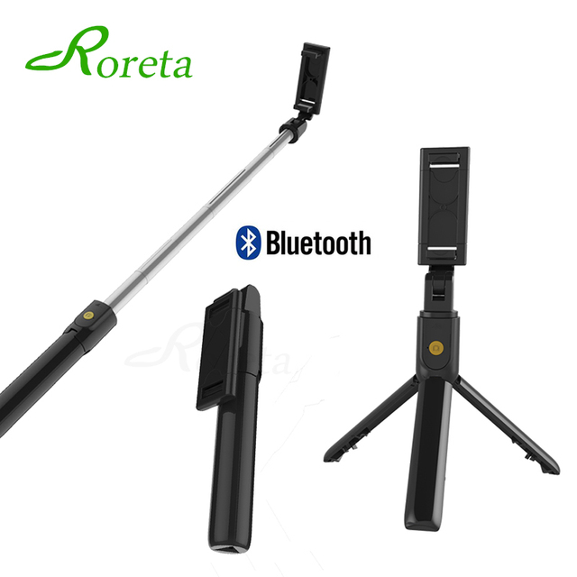 Roreta 2019 new 3 in 1 Wireless Bluetooth Selfie Stick Mini Tripod Extendable Monopod Universal For Android IOS For iphone