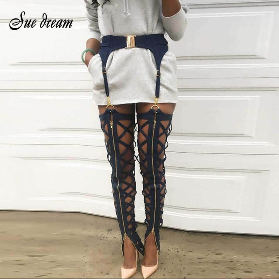 2017 New Summer Sexy Women Black Women Bodycon Mesh Transparent Sexy  Bandage Pants wholesale 987d5da0dc05