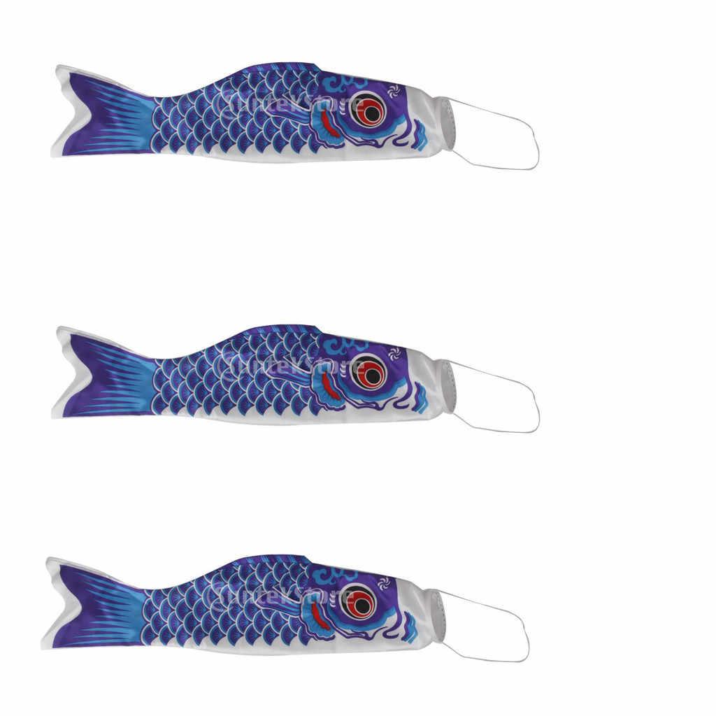 3 PCS Japanese Carp Windsock Streamer Fish Flag Kite Koi Home Outdoors Hanging Decoration banner Satin 5 colors Multiple sizes
