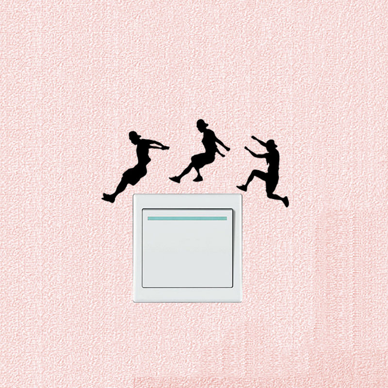 Personality Street Sport Parkour Vinyl Switch Decals Wall Stickers 5WS0967