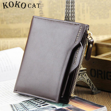 Men Wallet  Leather Zipper Design Women Short  Purse with ID Card Holder Coin Pockets Mini Walet Horizontal and Vertical Design fashionable women s satchel with zipper and embossing design