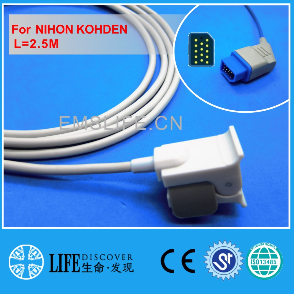 Long cable child and pedicatric clip spo2 sensor for NIHON KOHDEN patient monitor