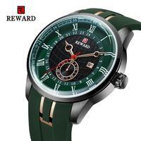 Recompensa militar relógios masculinos 2019 marca de luxo relógio de pulso de quartzo dos homens silicone data automática relógio homem relogio masculino dropshipping