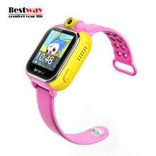 FERNMASCHINEN-STOPP-JM08 Smart Baby Uhr Kinder Smartwatch Android GPS Tracker Uhr Für Kinder SOS Tragbare Geräte 3G Cartoon-uhr 720 P Kamera