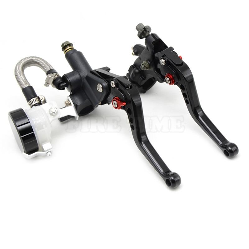 ФОТО motorcycle CNC Aluminum Adjustable brake clutch lever& brake pump  For YAMAHA R6S USA VERSION 2006 2007 2008 2009