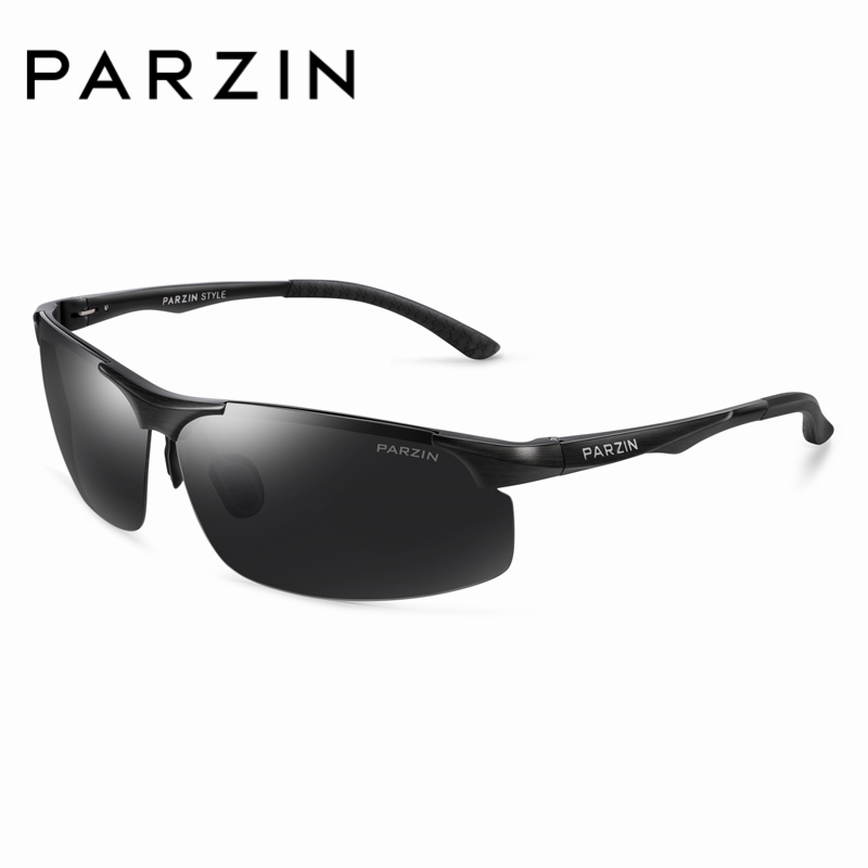 PARZIN 2018 Cool Men Goggle Sunglasses High Quality Metal Frame Polarized Sunglasses For Driving Male Glasses