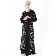 Luxury Muslim Embroidery Long Robe Gowns Jubah Middle East Ramadan Arab Islamic Abaya Sequins Maxi Dress Cardigan Tunic Kimono