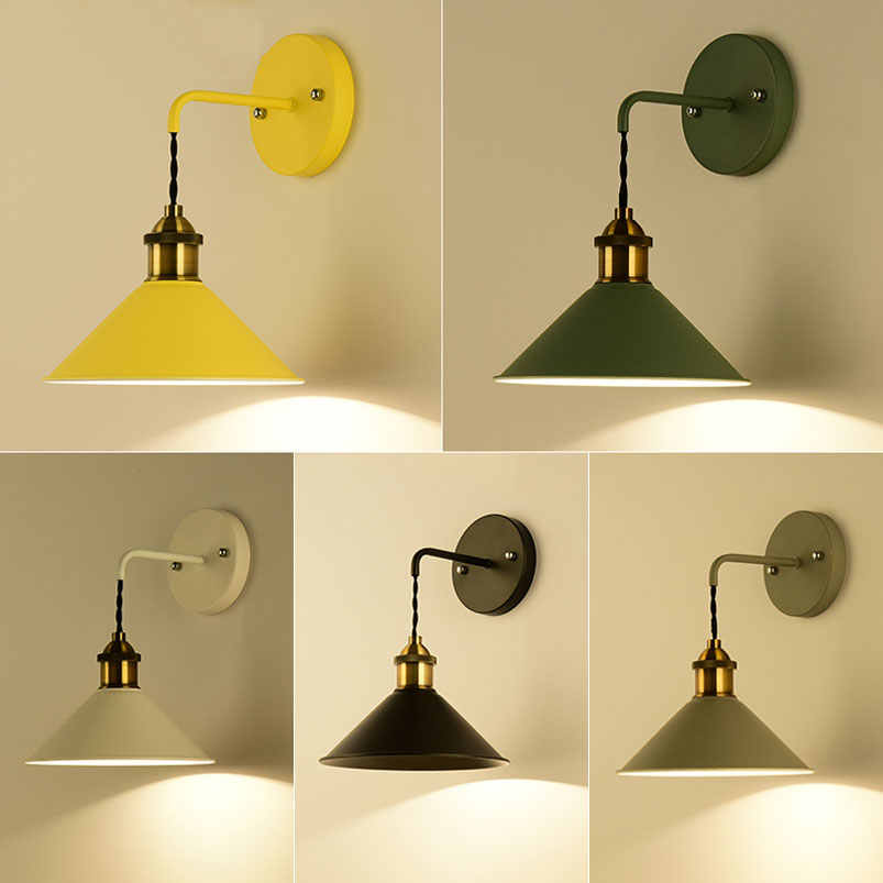 Modern fashion wall light fixture hallway stairs bedroom living room corridor study cafe light adjustable bra wall lamp sconce