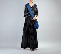 Women Autumn Cotton Linen Striped Patchwork Dress Ladies V Neck Elegant Retro Vintage Stripes Dress Spring