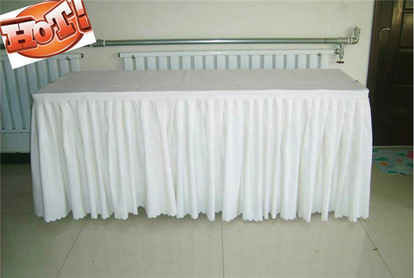 Ft X White Polyester Table Skirt Conference Meeting Table - Conference table skirts