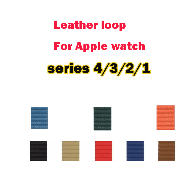 Genuine Leather Loop band for apple watch straps series 1/2/3/4 straps for iwatch adjustable magnetic closure 38/40/42/44mmGenuine Leather Loop band for apple watch straps series 1/2/3/4 straps for iwatch adjustable magnetic closure 38/40/42/44mm