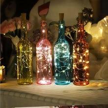 2метров бутылки вина Коркер гирлянда огни Фея строка свет для свадьбы день рождения бар атмосфера стекло CraftLighting 10шт