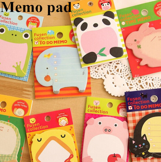 Funny cartoon animal series sticky note,cute gift paper memo pad stationery supplies(tt-3686)