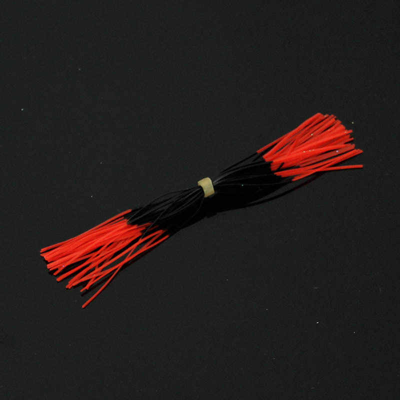 40 unids/lote de caucho de silicona falda remolque reemplazo para deslizante plantillas del pulpo del calamar pargo Jigging pesca señuelos 11cm