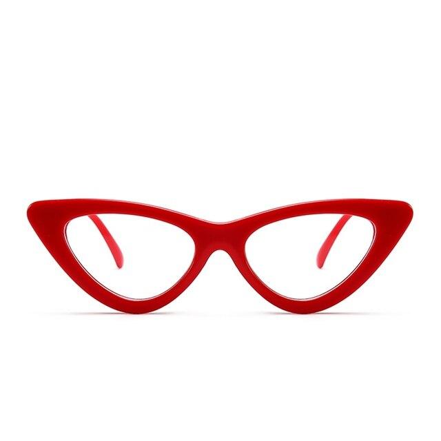 Peekaboo cute sexy retro cat eye sunglasses women small black white 2018 triangle vintage cheap sun glasses red female uv400 2