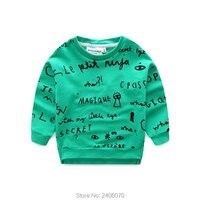 Roupas primavera crianças manga comprida minúsculo algodão casual esporte camiseta baby boy tops t camisas engraçadas de t