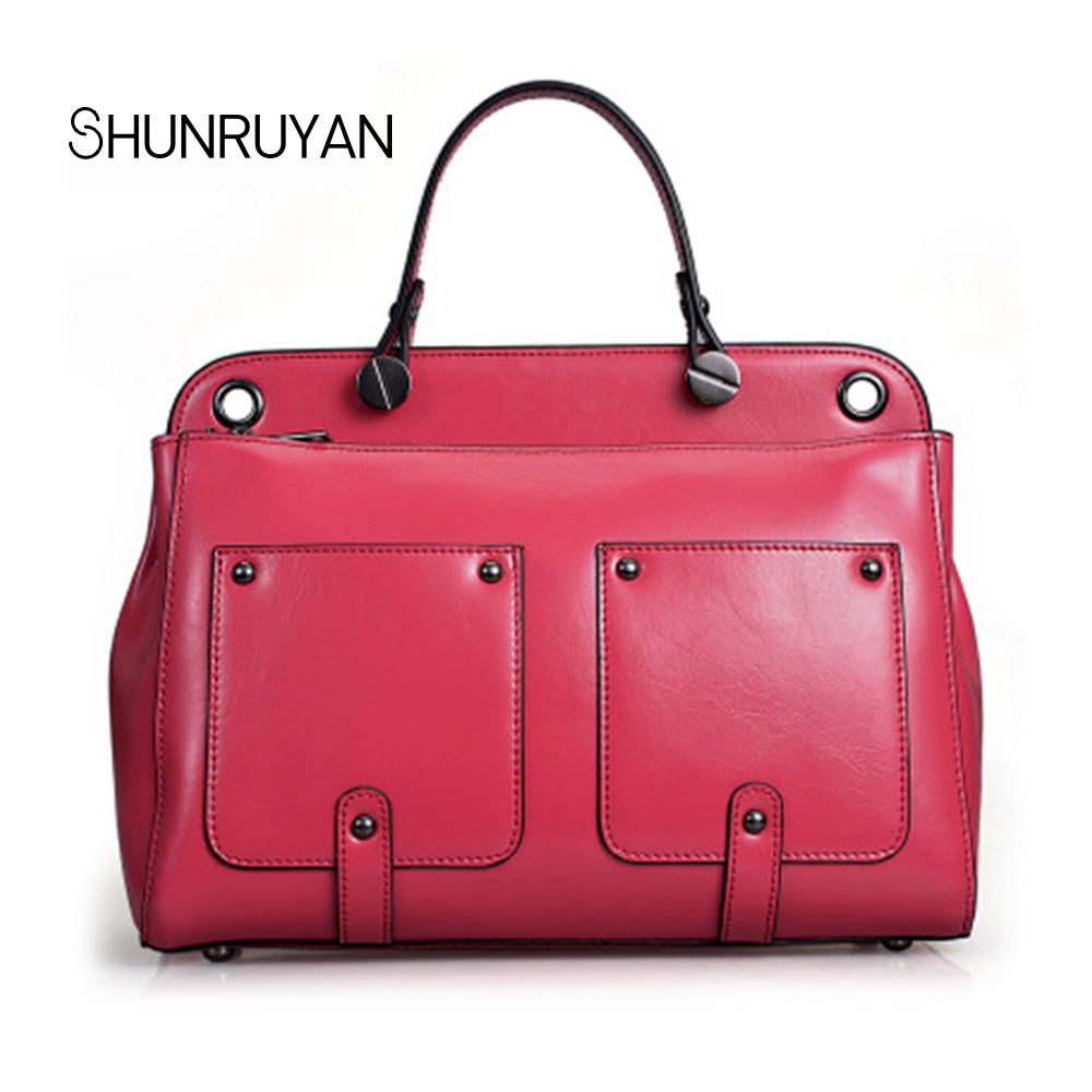SHUNRUYAN Selling hot Ladies HandBags Women Genuine Leather Totes Messenger Bags Hign Quality Designer Luxury Brand BagSHUNRUYAN Selling hot Ladies HandBags Women Genuine Leather Totes Messenger Bags Hign Quality Designer Luxury Brand Bag