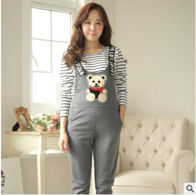 Spring Autumn Pregnancy Overall Maternity Clothes Cotton Suspender Trousers Pants for the Pregnant Women Mother Clothing