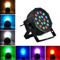Led Stage Light 18 3W 110V 220V Par Light With DMX512 Master Slave Flat DJ
