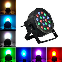 18*3W 12W RGBW RGB Led Stage Light 110V 220V Par Light With DMX512 Master Slave Flat DJ Equipments Controller for Party Disco