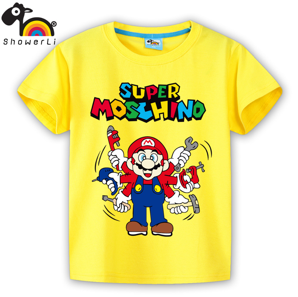 T-shirts are the basic every day clothing requirement for men and boys. They like wearing t-shirts casually as well as occasionally. Your little master would love sporting graphical t-shirts with one-liners or catchy lines written on the front.