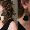 eManco tassel drop earring for women antique gold plated zinc alloy long dangle earrings ear jewelry Hanging earrings pendante