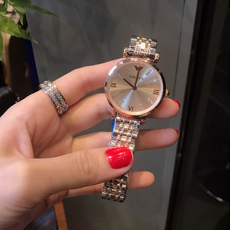 New Luxury Fashion Women's Watch Women's Watch Simple Atmosphere Ultra Thin Stainless Steel Women's Watch Quartz Watch