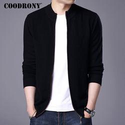 COODRONY Turtleneck Cardigan Men 2018 New Winter Thick Warm Sweatercoat Mens Merino Wool Cardigans Zipper Cashmere Sweaters 7319