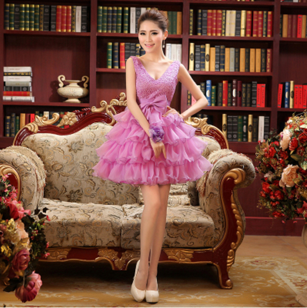 Puffy Prom Cheap Short Sweet 16 Fitted Puffy Tulle Dresses Petite