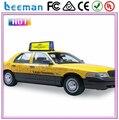Táxi topo sinal Leeman P5 e teto do carro levou outdoors p10/p16/p20 publicidade cor cheia conduziu o sinal outdoor