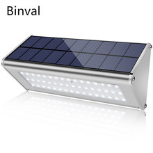 Binval 800 Lumen Solar Lights Outdoor Radar 48LED Motion Sensor Light Security with Waterproof Stainless Aluminum Alloy Housing