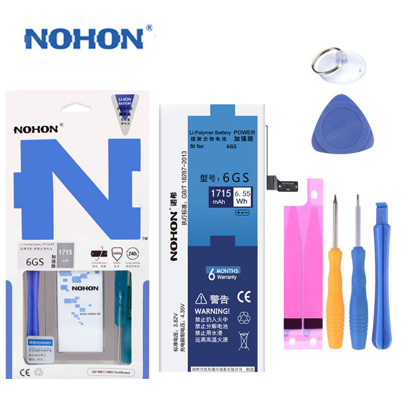 NOHON Cell-Phone-Batterie iPhone6s Original for Real-Capacity 1715mah/high-Quality Free-Tools