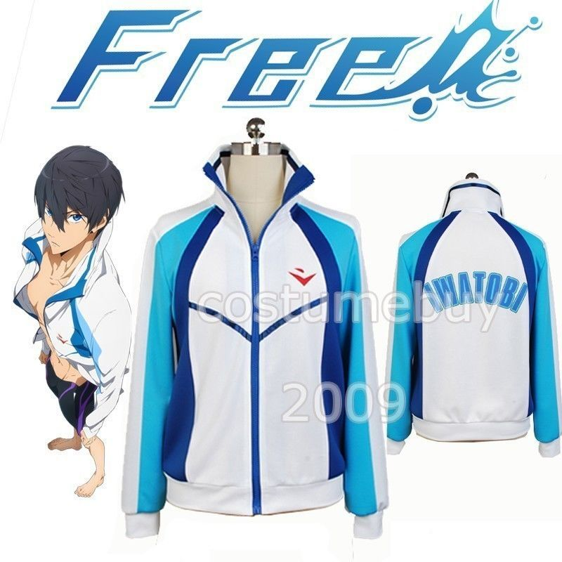 Anime Free! Iwatobi Swim Club Haruka Nanase Jacket Cosplay Costume Sport Hoodie