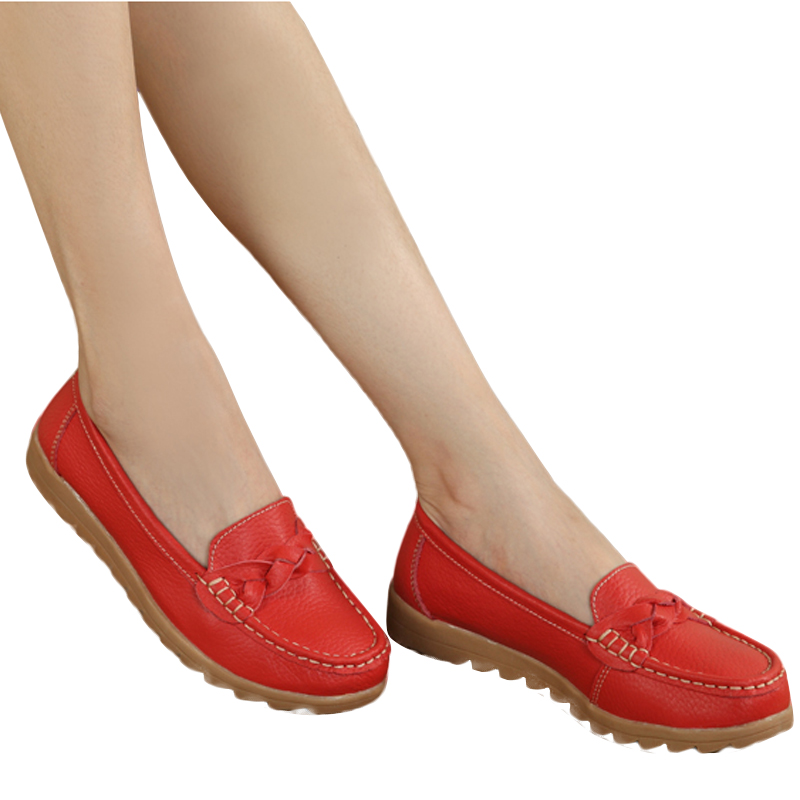 2016 Summer fashion anti-skidding women flats cow muscle soft sole round toe tassel sweet comfortable casual women flats ST708 siketu best gift baby flats tassel soft sole cow leather shoes infant boy girl flats toddler moccasin bea6624