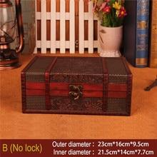 Wooden Storage Box Vintage Style