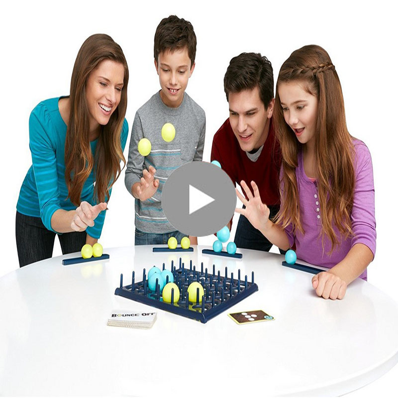 Bounce off Board Game Party Family Children Off Bounce Fun Competition Head Jumping Balls Novelty Funny Interactive Toys penguin trap interactive ice breaker party game