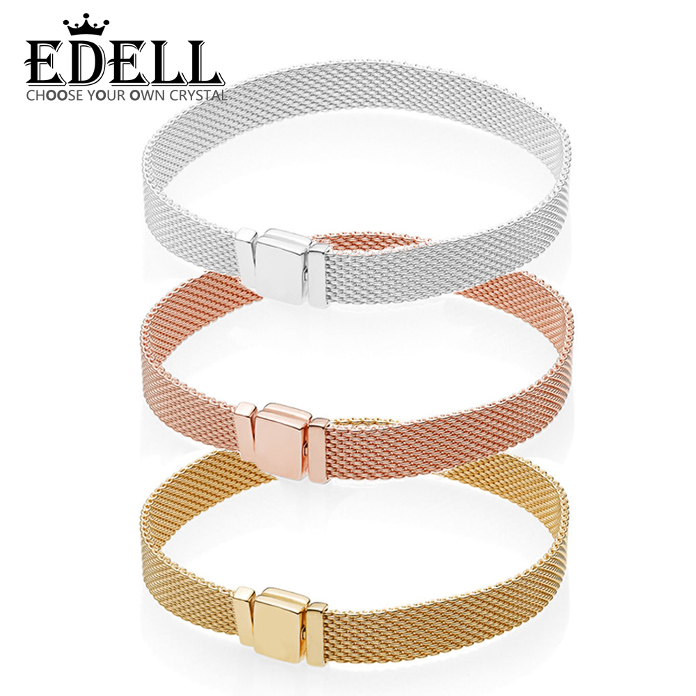 EDELL 100% 925 Sterling Silver 597712 567712 587712 ROSE SHINE REFLEXIONS BRACELET Womens Wedding Vintage Charm Luxury JewelryEDELL 100% 925 Sterling Silver 597712 567712 587712 ROSE SHINE REFLEXIONS BRACELET Womens Wedding Vintage Charm Luxury Jewelry