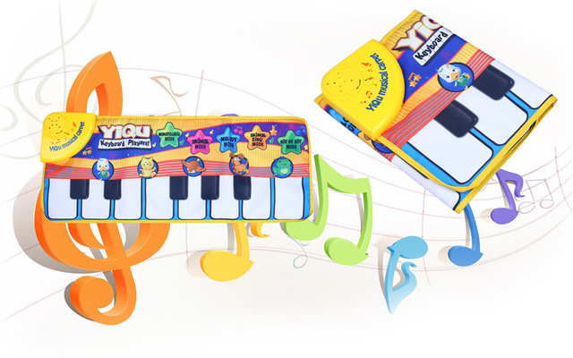 Multifunctional Kids Gift Bright-coloured Piano Music Game Electronic Mat Play Crawling Animal Sound Educational Touch Sing Toy