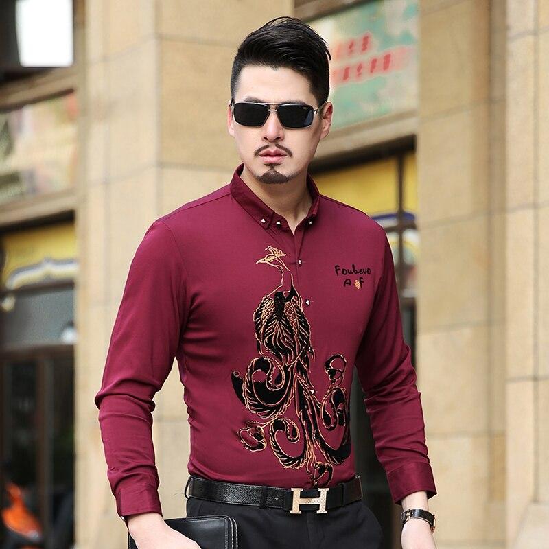 48abf44081f Mens camisa de vestir de manga larga Hombre negocios casual moda formal  Camisas Slim masculina camisa