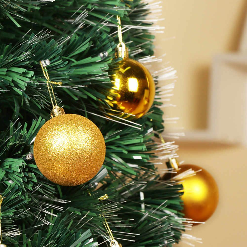 2018 24 pçs 30mm árvore de natal bola bauble pendurado casa festa ornamento decoração feliz natal ano novo