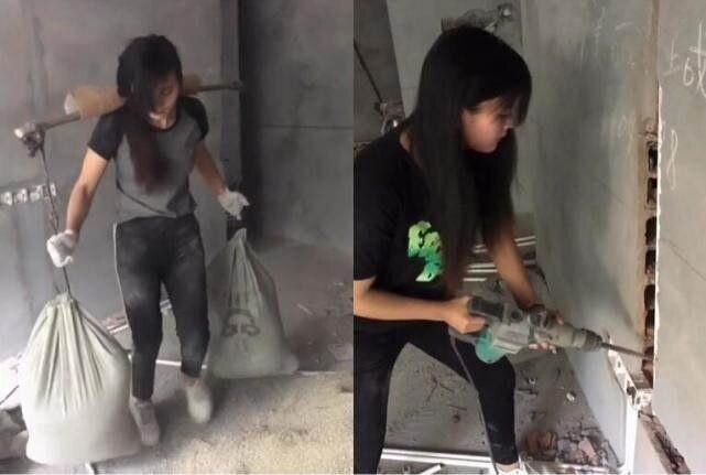 掏粪女孩搬完水泥又去搬砖了,其实字母圈里也经常欢快恶搞的