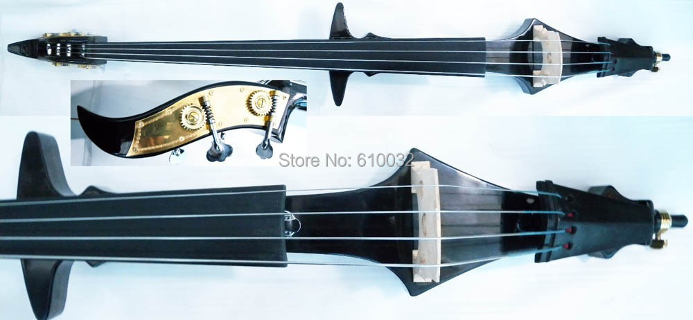 one   New 3/4 black  color 4 string   new Electric Upright Double Bass Finish silent Powerful Sound #5-7 001202 4 string black 3 4 new electric upright double bass finish silent powerful sound