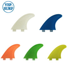 Surfboard Fibreglass Fin FCS G5 Honeycomb Surf Quilhas orange 5 colors