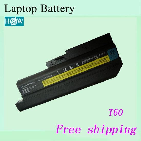 6600 мА-ч для IBM Thinkpad T60 R60 перезаряжаемый ноутбук батарея