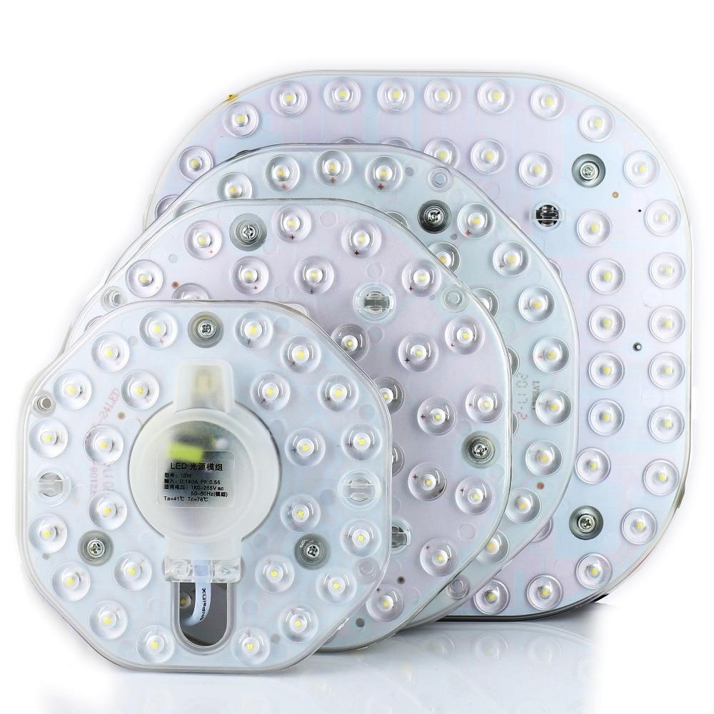12 w 18 w 24 w 36 w Led Voyants Du Panneau 220 v Plafond lentille optique module Lampe Conseil Magnétique l'installation de l'éclairage de la maison