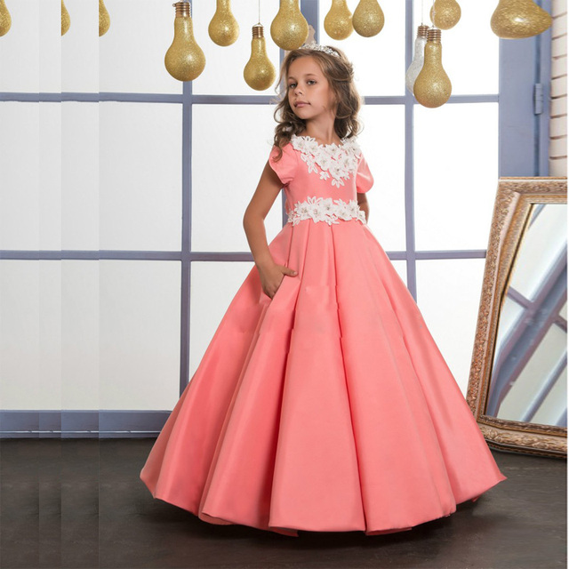 New Adorable Full Length Flower Girl Dresses Baby Girls Birthday ...