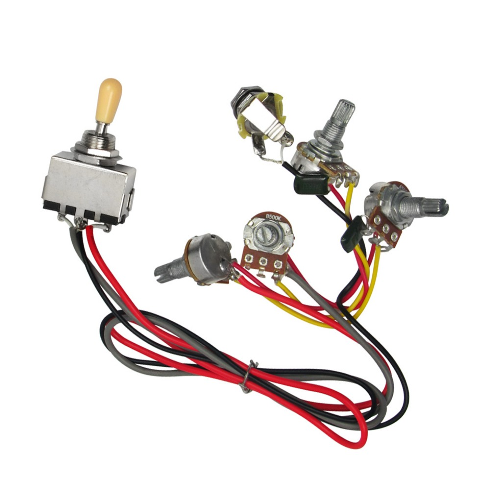 Buy Cable Pot And Get Free Shipping On Useful Guitar Wiring Harness Pickup 1v2t 5 Way Switch 500k Pots For