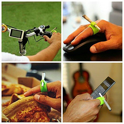 New Design Silicone Ring Finger Hand Rack Cigarette Holder As