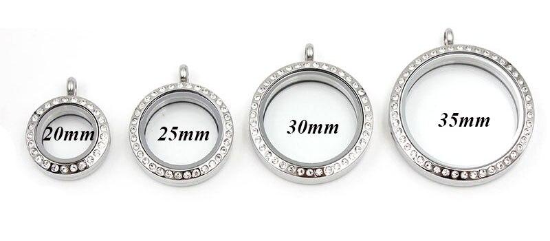 Водонепроницаемый Плавающий Шарм медальон ожерелье 20 мм 25 мм 30 мм 316L нержавеющая сталь память медальон кулон для женщин