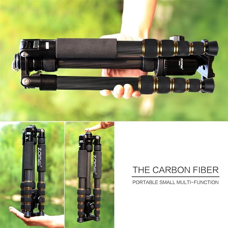ZOMEI Z699C Carbon Fiber Tripod for Camera with Ball Head Compact Heavy Duty Travel Tripode -10